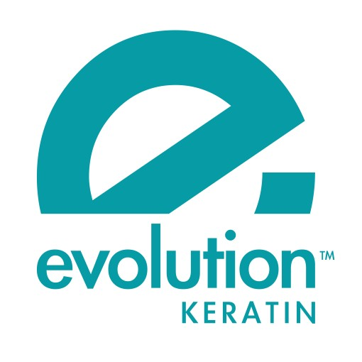 logo evolution keratin blue