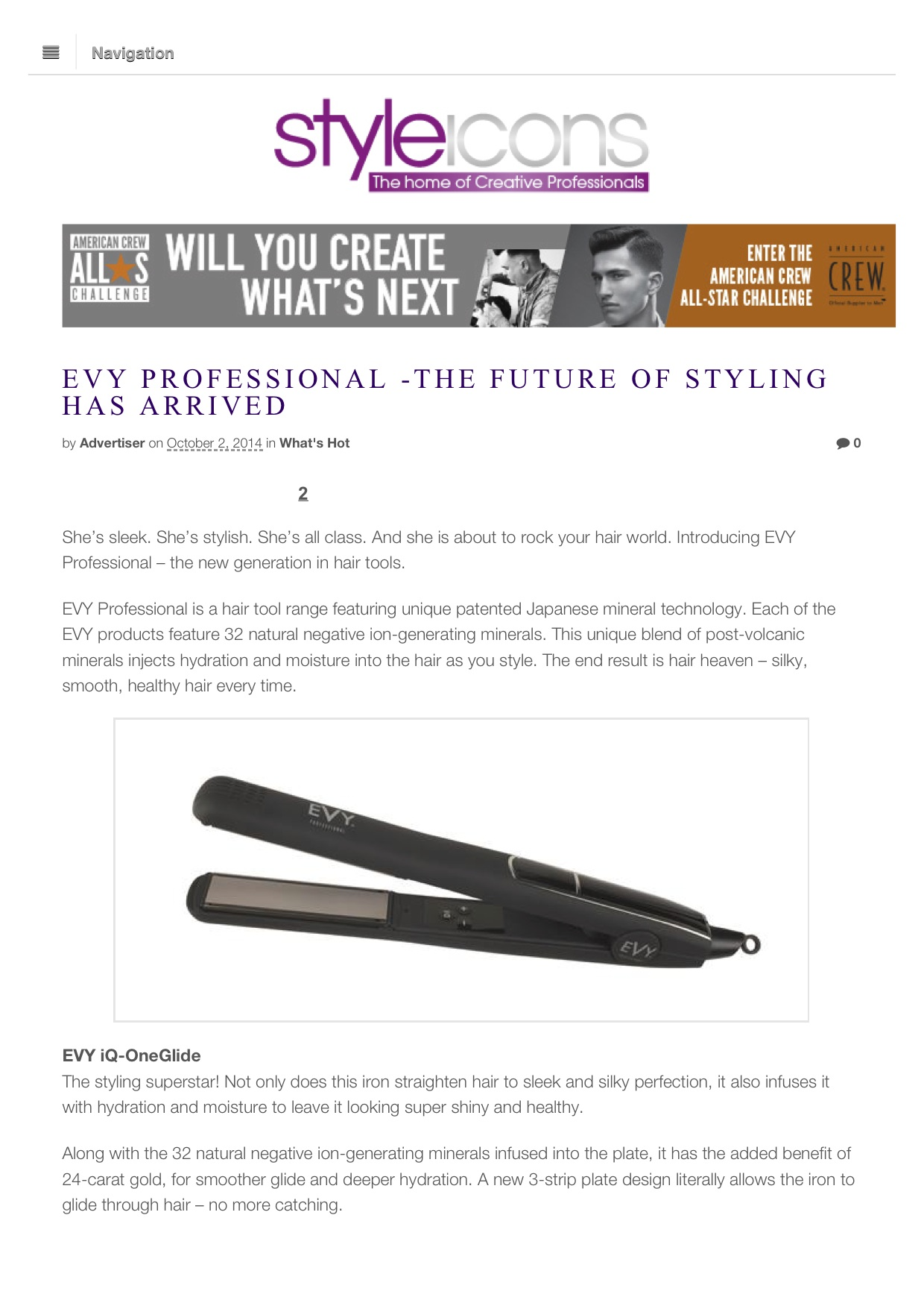 EVY Professional -The Future of Styling Has Arrived | Styleicons